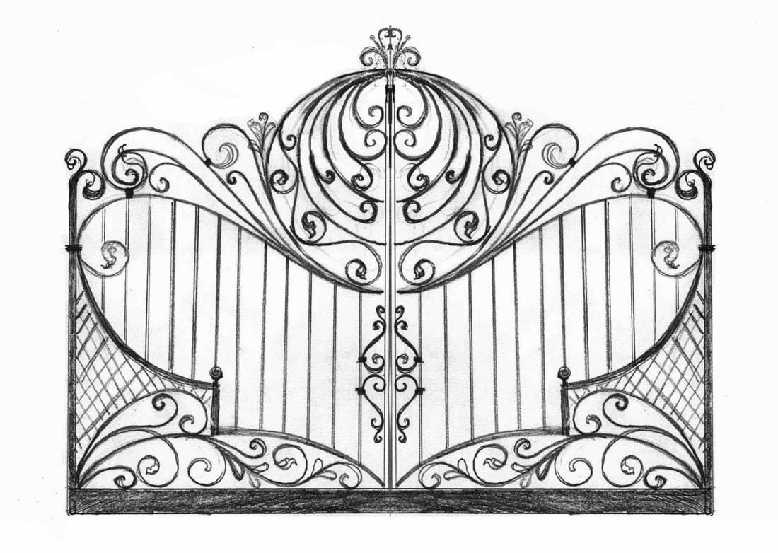 Amato Cancelli in ferro battuto: Cancello in Ferro | Lavori in ferro battuto WT98