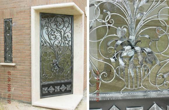 Porta d ingresso in ferro battuto for Porte d arredo in vetro