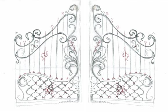Super Disegno Cancello Ferro XA95 » Regardsdefemmes IF22