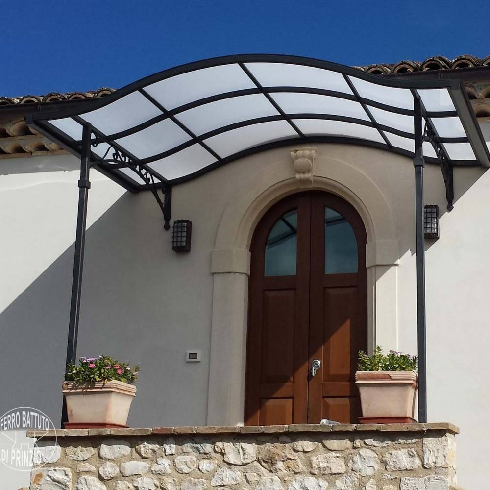 Tettoie tettoie in ferro battuto tettoia per terrazzo for Tettoia legno leroy merlin