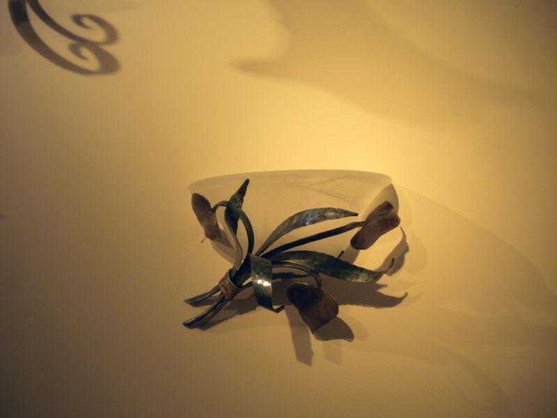 Plafoniere Con Foglie : Appliques: in ferro battuto e plafoniere