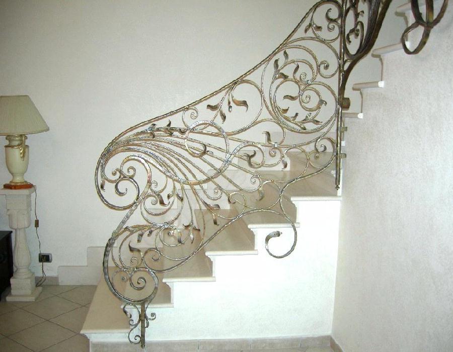 Connu Balaustre interne: in ferro - scale in ferro battuto, ringhiera  OX54