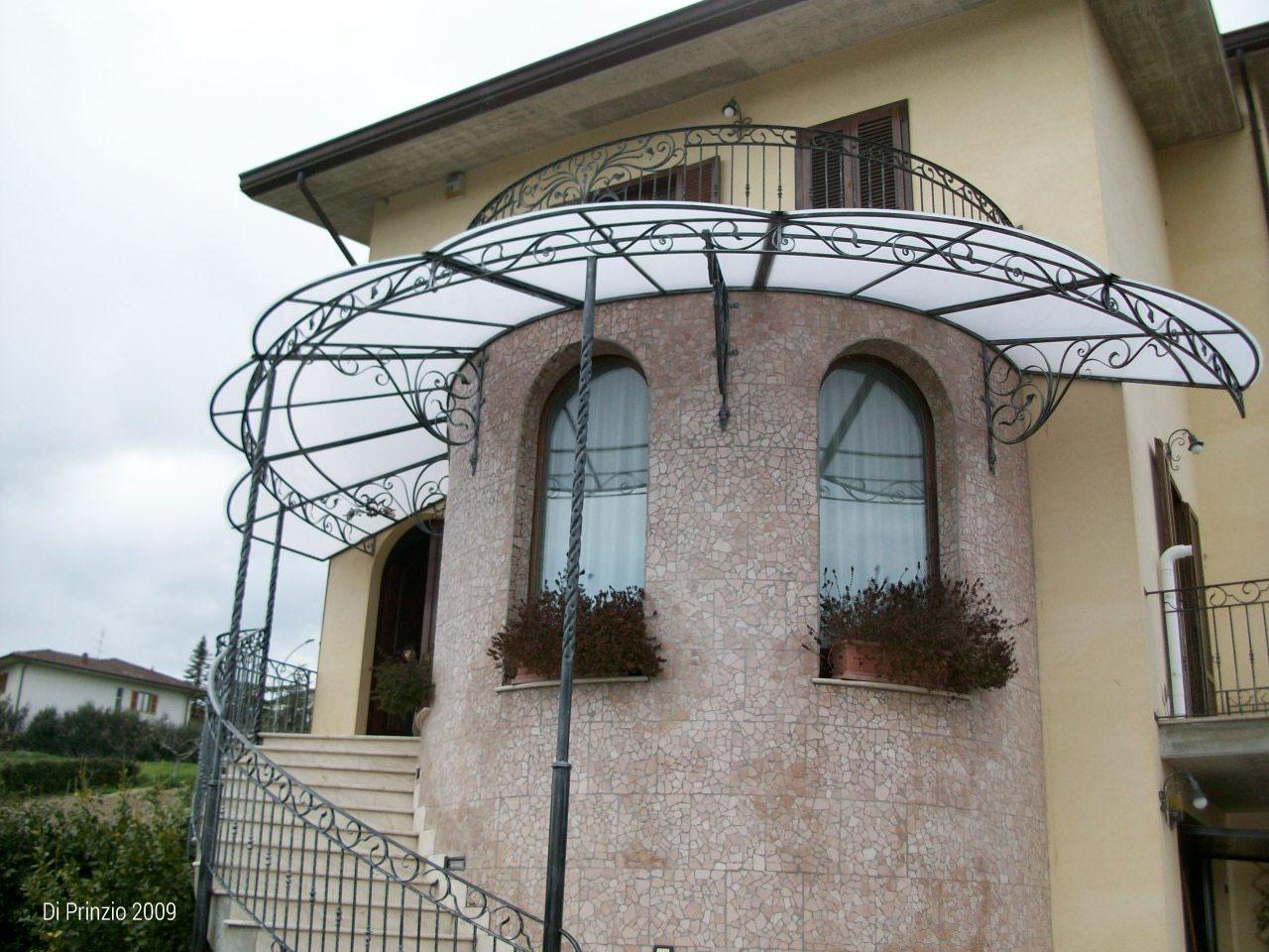 Tettoie tettoie in ferro battuto tettoia per terrazzo - Coperture per scale esterne ...