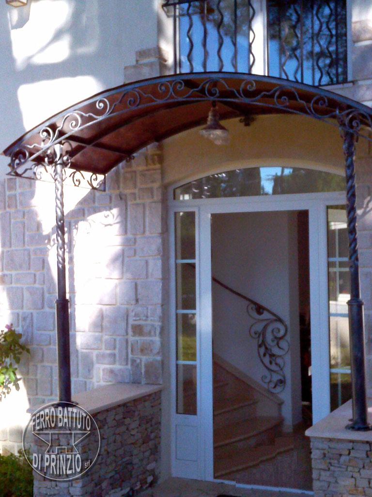 Tettoie: Tettoie in ferro battuto, tettoia per terrazzo, tettoia per porta in ferro battuto
